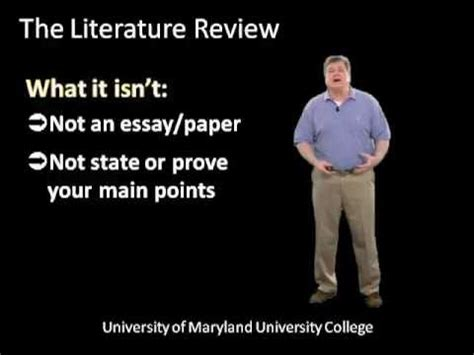 A good literature review will